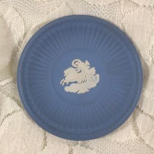 Tiny Genuine Blue Wedgwood Plate/Great Ring dish!